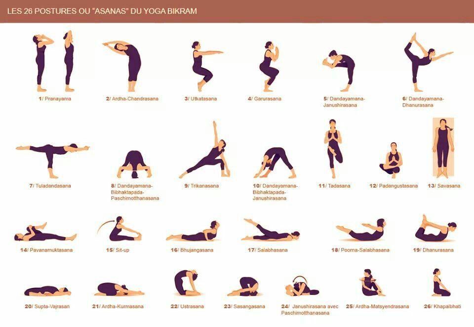 postures yoga bikram